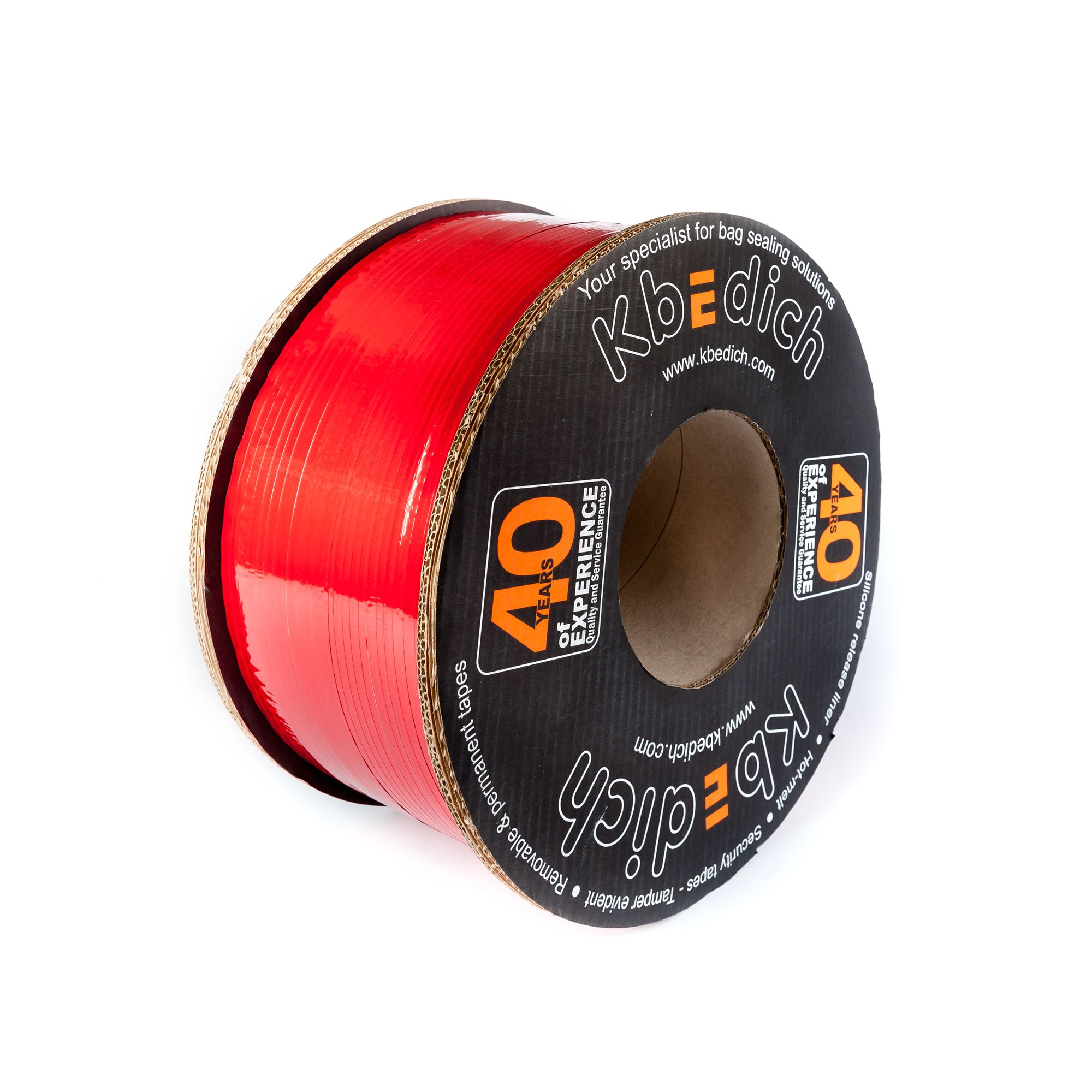 Film transfers – Tamper evident – Certified by Applus - Permanent tape closures - Permanent tape closures - Hotmelt adhesive - Hotmelt adhesive - The security tape company - Reseleable tape Closures - Silicone release liner - http://www.kbedich.com